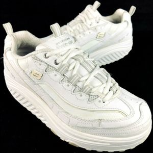 Skechers Shape Ups Fitness Workout White Sneakers